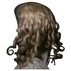 Fantastic Blond Mohair Original Wig, Rare Side Part