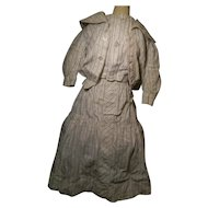 Three Piece Gown Late 1800's Era, For Early Doll,  Great Find!