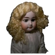 Adorable Blond Mohair Curly Wig, Vintage Unused