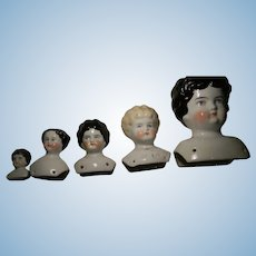 China Doll Heads, No Cracks,  5 Sizes