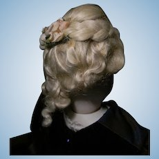 French Fashion Doll's Fancy Mohair Wig