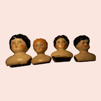 Four Little China Doll Heads, Germany For Doll Projects