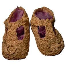 Lovely Hand Crocheted Slippers