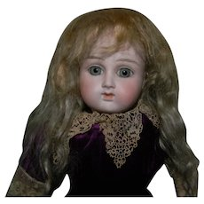 """Dusty Blond Mohair Factory Wig, 8-1/2"""" C."""