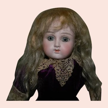 "Dusty Blond Mohair Factory Wig, 8-1/2"" C."