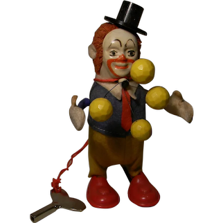 Adorable Schuco Juggling Circus Clown