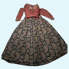 French Fashion Doll Skirt & Blouse