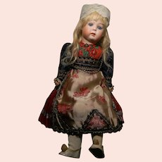 Cabinet Size Kley & Hahn 169, Pouty Child, Glass Eyes, Original