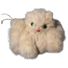 Endearing Cat Muff w/Green Eyes for Larger Doll