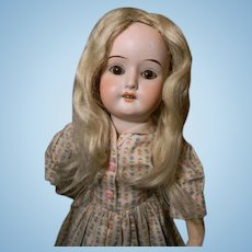 Pale Blond Mohair Factory Wig, Lovely!