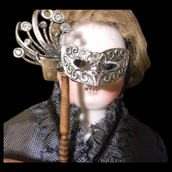 French Fashion Doll's Silver Mask