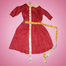 "Turkey Red Original Dress For 20"" Doll"