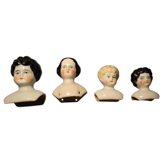 Four China Heads in Graduated Sizes, no cracks