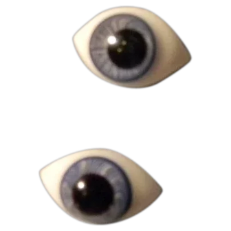 Glass Pinch-Back Type Eyes, Large Pupils