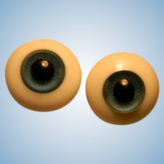 Large Blue Glass Paperweight Type Eyes,  26mm in Size