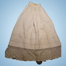 Long  Slip for French Fashion, Lace and Pleated Trim