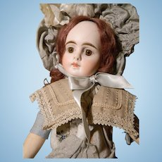 Lovely Closed Mouth Sonneberg for French Trade, Cabinet Size