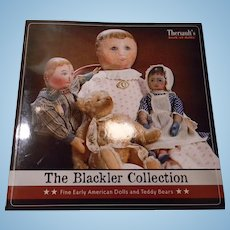 "Auction Catalog of Early Dolls, ""The Blackler Collection"