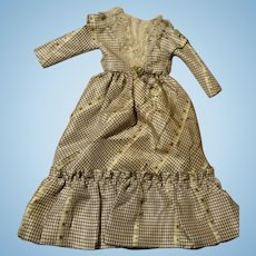 Old Silk Fashion Doll Gown