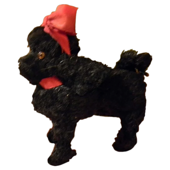 French Poodle for A Fashion, w/Tape Measure Tail, Glass Eyes