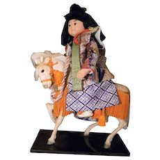 White Horse w/Samurai Warrior Astride