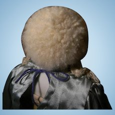 """""""Skin"""" type Wig, for Early Doll size 6"""" C."""