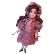 "Tiny Lace Dress & Hat, for 5-1/2"" doll"