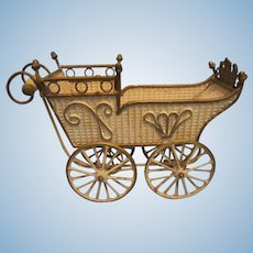 Antique German Marklin Doll Carriage