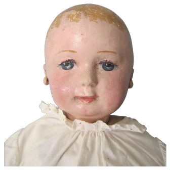 "Antique 23"" Large Martha Chase Cloth Doll"