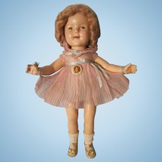 """Vintage Ideal 18"""" Composition Shirley Temple Doll"""