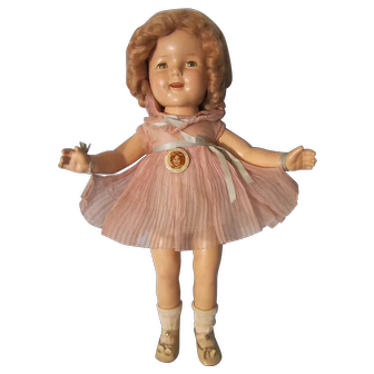 "Vintage Ideal 18"" Composition Shirley Temple Doll"
