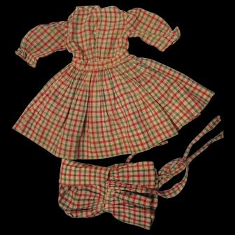 Antique Dress and Bonnet