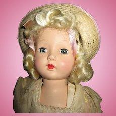 "Vintage 16"" Effanbee Tintair Strung Honey Doll"