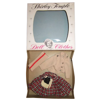 """Ideal 12"""" Shirley Temple Outfit """"Wee Willie Winkie"""""""