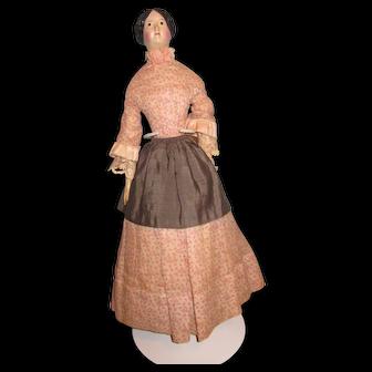 "Antique German 15 1/2"" Milliners Model Paper Mache Doll"