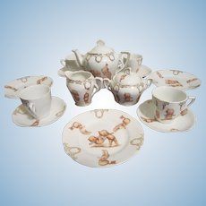 China Bavaria Kewpie Tea Set