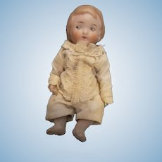 Antique All Bisque Googly eye Baby Doll