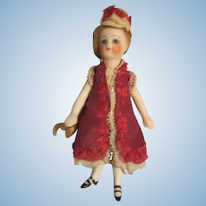 "Antique 5"" All Bisque Mignonette Doll"