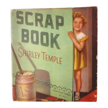 Vintage 1930's Shirley Temple Scrapbook