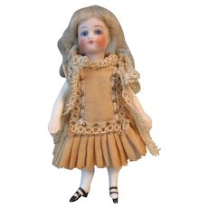 """Antique French 4 1/2"""" All Bisque Mignonette Doll"""