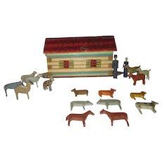 Antique German Folk Art Noahs Ark Toy