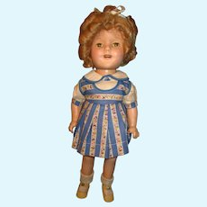 Vintage Ideal Composition Shirley Temple Doll unusual outfit