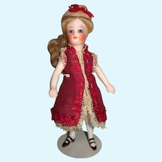 """Antique All Bisque 4 7/8"""" French Mignonette Doll"""