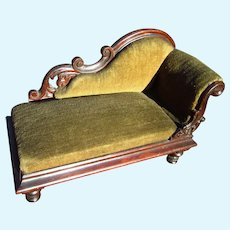 Antique Victorian Sofa, Loveseat Salesman Sample for Dolls