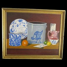 A 20th Century American Outsider Art Still Life Painting