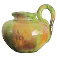 """A Theophilus Brouwer """"Middle Lane Pottery"""" Hand Thrown Pitcher/Vase"""