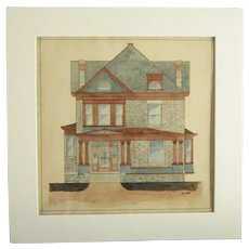 An American Watercolor Architectural Rendering from 1906