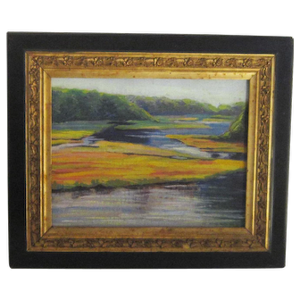 An American Impressionist Painting of Cape Cod by Frederick A. Foord (Born 1899).