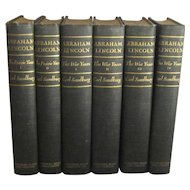 Abraham Lincoln, Six Volume Biography by Carl Sandburg