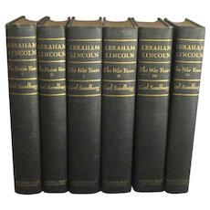 Abraham Lincoln, Six Volume Biography by Carl Sandburg